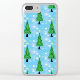 Christmas Repeat Clear iPhone Case
