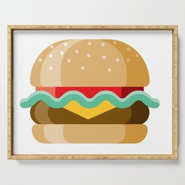 Delicious Cheeseburger Serving Tray