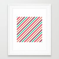 striped Framed Art Prints featuring Striped. by Tayler Willcox