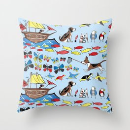 The Voyage of the Beagle Throw Pillow