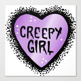 Creepy girl Canvas Print