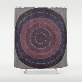 Circles Abstract Shower Curtain
