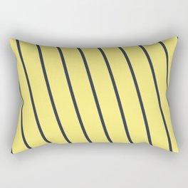 Yacht style. Blue & yellow diagonal stripes. Rectangular Pillow