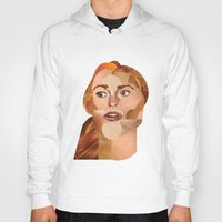 lindsay lohan Hoodies featuring Lindsay Lohan  by Rebecca Singer Illustration