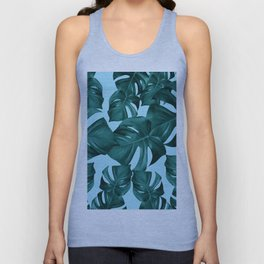 Monstera Leaves Pattern #7 #tropical #decor #art #society6 Unisex Tank Top