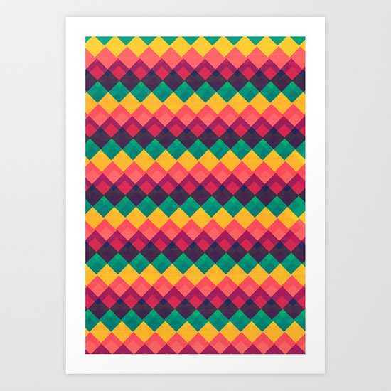 Happy Day Pattern Art Print