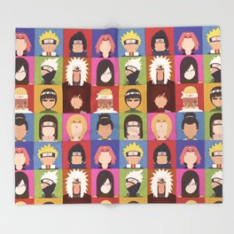 Anime Characters Throw Blanket