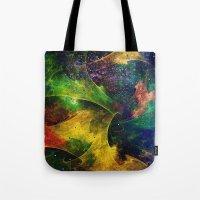 blanket Tote Bags featuring Blanket of Stars 2 by Klara Acel