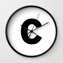 letter C (Black & White) Wall Clock