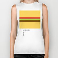 pantone Biker Tanks featuring Pantone Food - Hamburger by Picomodi