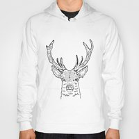 stag Hoodies featuring STAG by ALFIE creative design