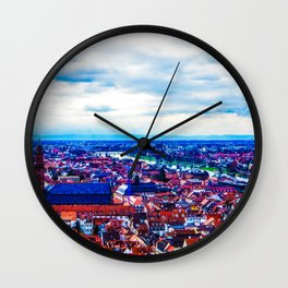 Overlooking Heidelberg Wall Clock