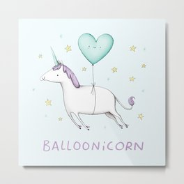 Balloonicorn Metal Print
