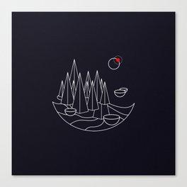 Visit Utopia - Science Fiction Poster Canvas Print