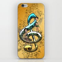 decorative iPhone & iPod Skins featuring Decorative clef  by nicky2342