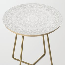 Mandala Soft Gray Side Table