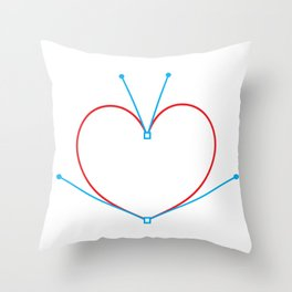 Bezier Love Throw Pillow