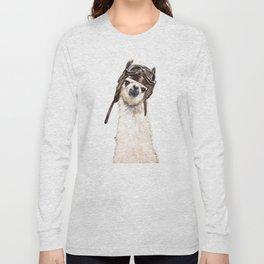 Pilot Llama Long Sleeve T-shirt