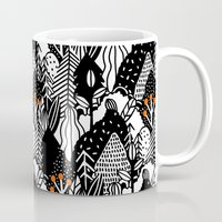 In the forest_B&W Mug