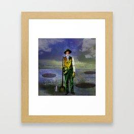 The gravedigger Framed Art Print