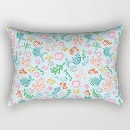 Mermaids and sea creatures Rectangular Pillow