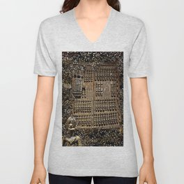 African Antiquities Collection: Shutter of the Degone People Unisex V-Neck