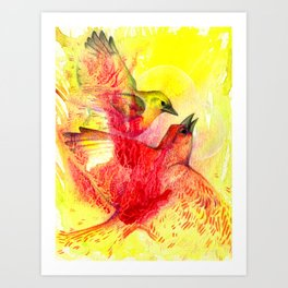 Yelling About Love Art Print