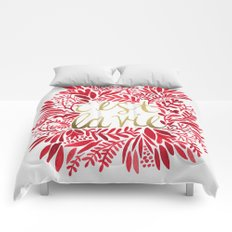 That's Life – Gold & Red Comforters