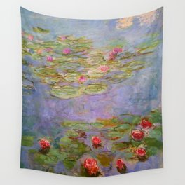 "Claude Monet ""Red Water Lilies"", 1919 Wall Tapestry"