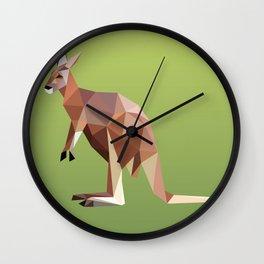 Geometric Kangaroo Wall Clock
