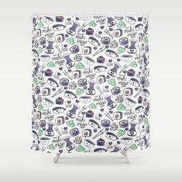 Galaxy Sushi Shower Curtain