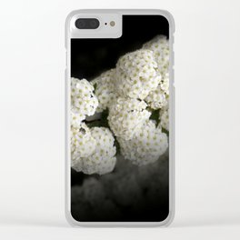 little snowballs on black Clear iPhone Case