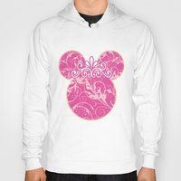 minnie mouse Hoodies featuring Minnie Mouse Princess Pink Swirls by Whimsy and Nonsense