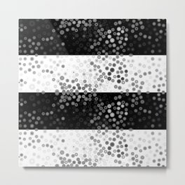 Black and white and bubbles  Metal Print