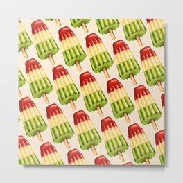 Popsicle Pattern - TropiPop Metal Print
