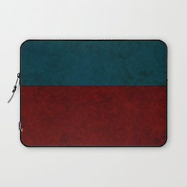 Blue and orange suede Laptop Sleeve