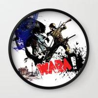 poland Wall Clocks featuring Poland Wara! by viva la revolucion