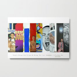 Mac Miller Album History Poster, Hypebeast Poster, Hip Hop Poster, Urban Wall Art, Music Posters Metal Print