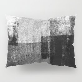 Black and White Minimalist Industrial Abstract Pillow Sham
