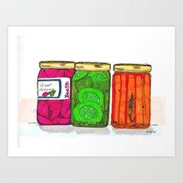 canned vegetables Art Print