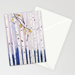 Birch Trees Watercolor Stationery Cards