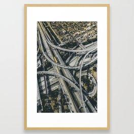 Highway interchange Framed Art Print