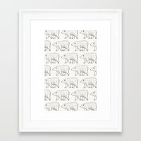 bears Framed Art Prints featuring Bears by Adam Lindfors