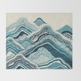 Blue Hike Throw Blanket