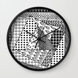 simple doodles in the square . https://society6.com/simpledoodles/collection Wall Clock