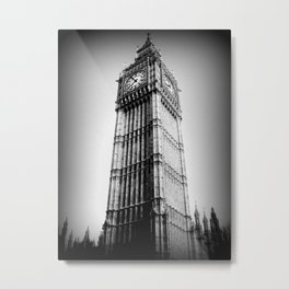 Ben looms in black and white, too. Metal Print