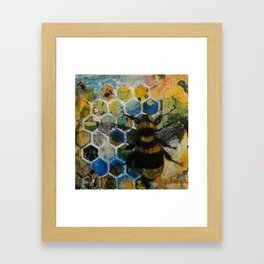 Bee Kind to One Another Framed Art Print