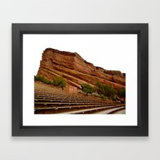 Red Rocks Amphitheater Framed Art Print