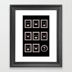 IQ question Framed Art Print