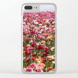 Carlsbad Flower Fields Clear iPhone Case